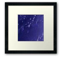 Marshall Islands Bikini Atoll Satellite Image Framed Print