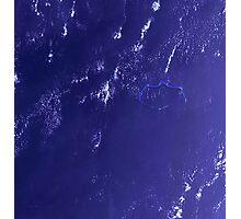 Marshall Islands Bikini Atoll Satellite Image Photographic Print
