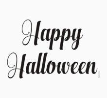 Happy Halloween in Elegant Font One Piece - Short Sleeve
