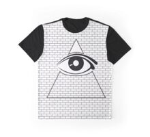All Seeing Eye (Black/White) Graphic T-Shirt