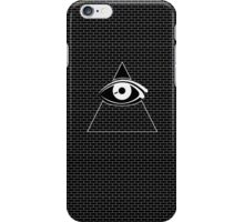 All Seeing Eye (White/Black) iPhone Case/Skin