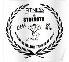 Strength and Fitness Poster