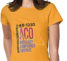 Auxiliary Compliance Outpost Womens Fitted T-Shirt