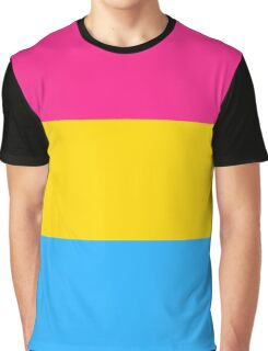 Pansexual Flag Graphic T-Shirt
