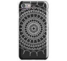 Simple Silver Mandala iPhone Case/Skin