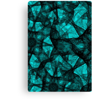 Fractal art black and turquoise Canvas Print