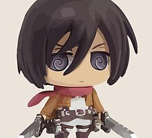 Mikasa Ackerman: Attack on Titan by Jelly Gem