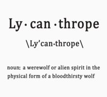 Lycanthrope with Definition Kids Tee