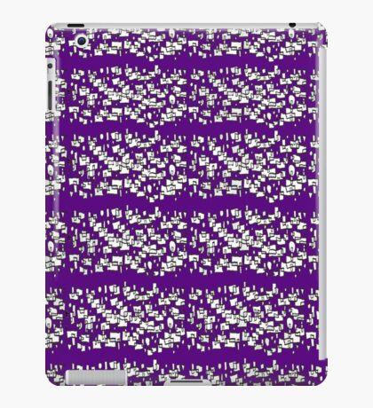 Random doodle 5 purple iPad Case/Skin