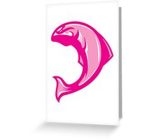 Manly Salmon (Pink/White/Light Pink) - Spor Repor Salmon Greeting Card