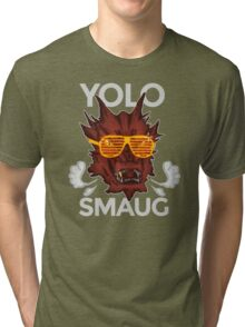 Yolo SMAUG! Tri-blend T-Shirt