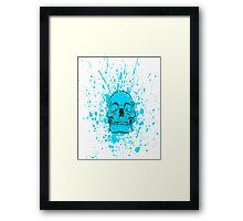 Skull: Cool Blue Framed Print