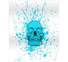 Skull: Cool Blue Poster