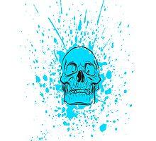 Skull: Cool Blue Photographic Print