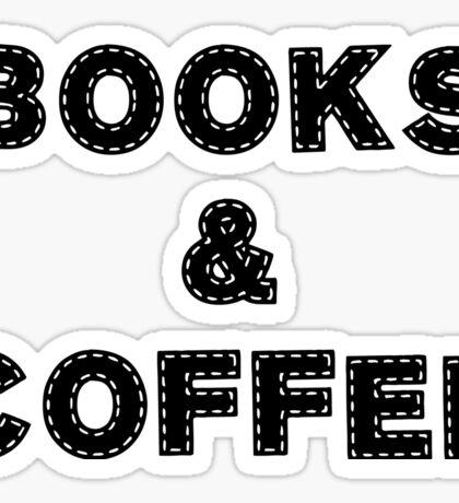 Books & Coffee Sticker