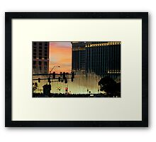 BELLAGIO FOUNTAINS from afar  ^ Framed Print