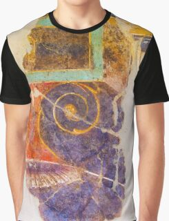 Antique drawing on the ancient wall, Rome, Italy Graphic T-Shirt