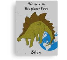 Angry Dinosaur Canvas Print