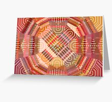 Dots and Lines (Postcard Version) Greeting Card