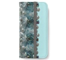 Vintage Bling Beads, Pearls, Diamantes and Sequins  iPhone Wallet/Case/Skin