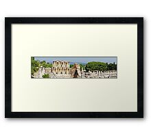 Panorama of Library of Celsus at Ephesus Framed Print