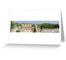 Panorama of Library of Celsus at Ephesus Greeting Card