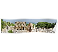 Panorama of Library of Celsus at Ephesus Poster