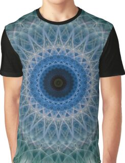 Mandala in blue and green colors Graphic T-Shirt