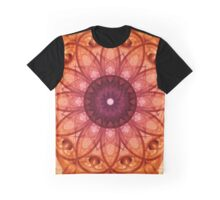 Mandala in red and orange colours Graphic T-Shirt