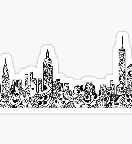 NYC Mandala Skyline  Sticker