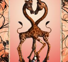Cute giraffes in love Sticker