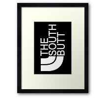The South Butt Framed Print
