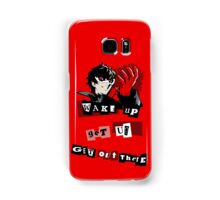 Wake up, Get up, Get Out There! - red Samsung Galaxy Case/Skin