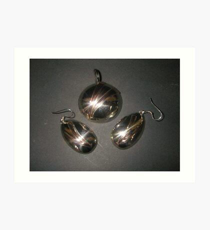 Pendant and Earrings (art deco) matching Art Print