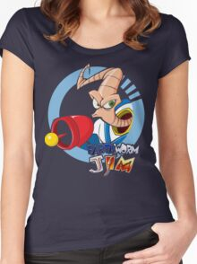 Earthworm Jim ... He Is A Funny Guy Women's Fitted Scoop T-Shirt