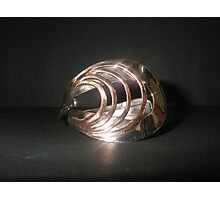 Bangle (Art Deco) from old spoon Photographic Print