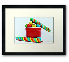 Lolly pops Framed Print