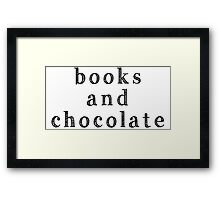 Books and chocolate Framed Print