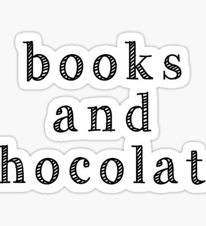 Books and chocolate Sticker