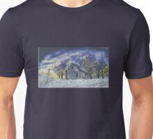 Blue Abandoned Cabin Unisex T-Shirt