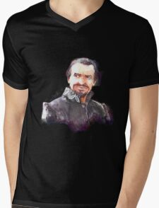 Watercolor Ainley!Master partly opaque version Mens V-Neck T-Shirt