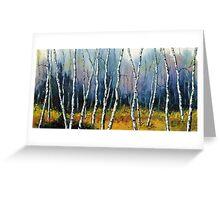 Winter Reverie by Lisa Elley. Palette knife painting in oil  Greeting Card