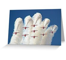 Red White And Blue !! Total Perfection !! The Red Arrows Farnborough 2014 !!  Greeting Card