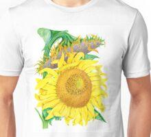 Mammoth Gray Stripe sunflower Unisex T-Shirt