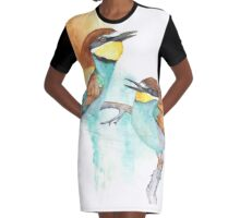 Bee Eaters Graphic T-Shirt Dress