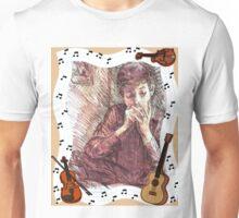 BOB DYLAN PLAYING HARMONICA Unisex T-Shirt