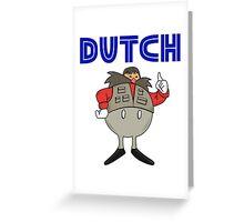 Zeb Coulter/Dutch Mantel Dr Eggman (sonic the hedgehog/wrestling)) Greeting Card