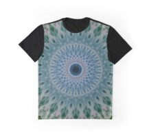 Mandala in green and pastel blue colors Graphic T-Shirt