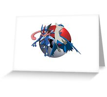 Ash-Greninja & Latios Greeting Card