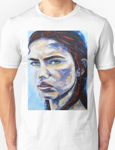 A Hot Night in Brazil by Lisa Elley. Palette knife painting in oil on gallery wrapped canvas Unisex T-Shirt